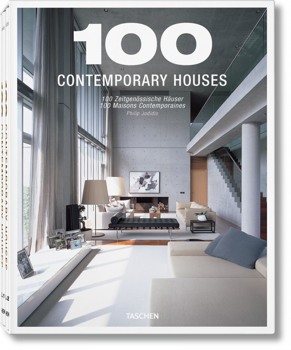 100 contemporary houses jumbo for Modern house design books