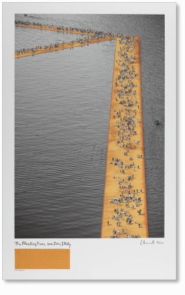 Christo and Jeanne-Claude. The Floating Piers. Art Edition No. 61–160 (Lithograph) (Limited Edition)