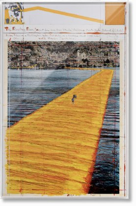 Christo and Jeanne-Claude. The Floating Piers. Art Edition No. 21–40 (Collage) (Limited Edition)