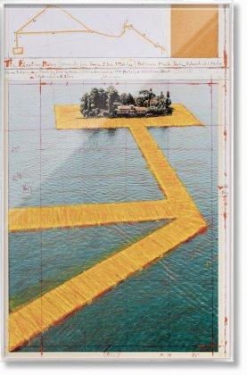 Christo and Jeanne-Claude. The Floating Piers. Art Edition No. 41–60 (Collage) (Limited Edition)