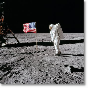 Buzz Aldrin. Apollo 11. 'Flag on the Moon'