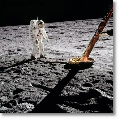 Buzz Aldrin. Apollo 11. 'Inspecting the Eagle'
