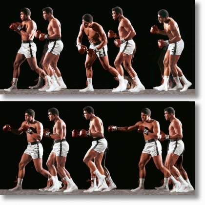 Neil Leifer. Homage to Ali. 'Ali Invents the Double-Clutch Shuffle, 1966'