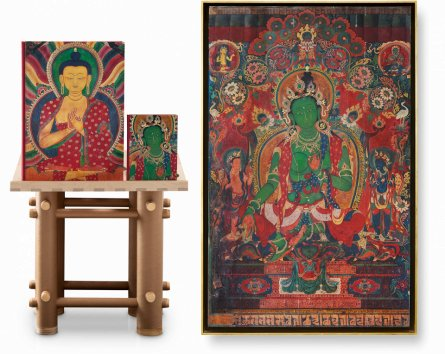 Thomas Laird. Murals of Tibet. Art Edition No. 41–80 'Green Tara, Gyantse Kumbum (ca. 1420)' (Limited Edition)