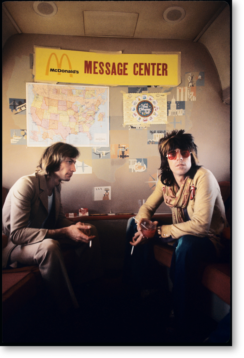 Ethan Russell  Charlie Watts & Keith Richards, 1972