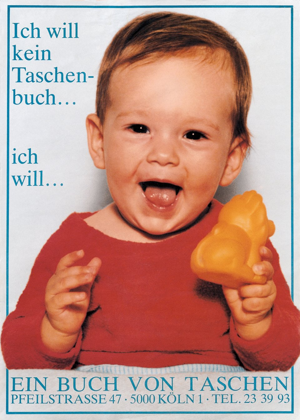 "Benedikt's daughter, Marlene, announcing ""I don't want a taschen-book, I want a book by TASCHEN!"""