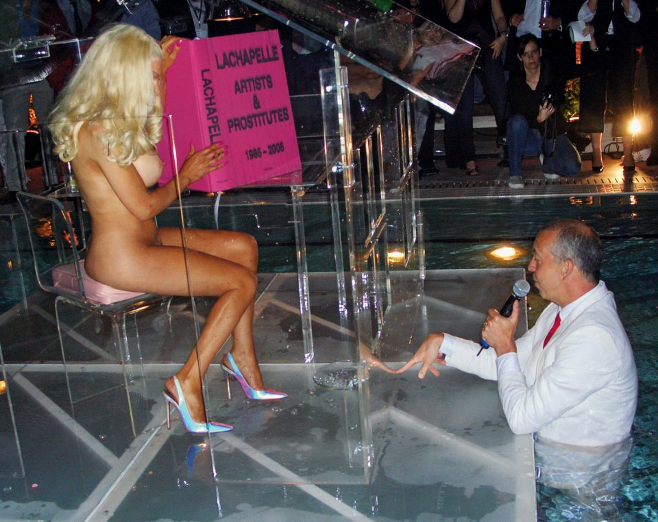David LaChapelle's book Artists & Prostitutes has a suitably raunchy launch party.