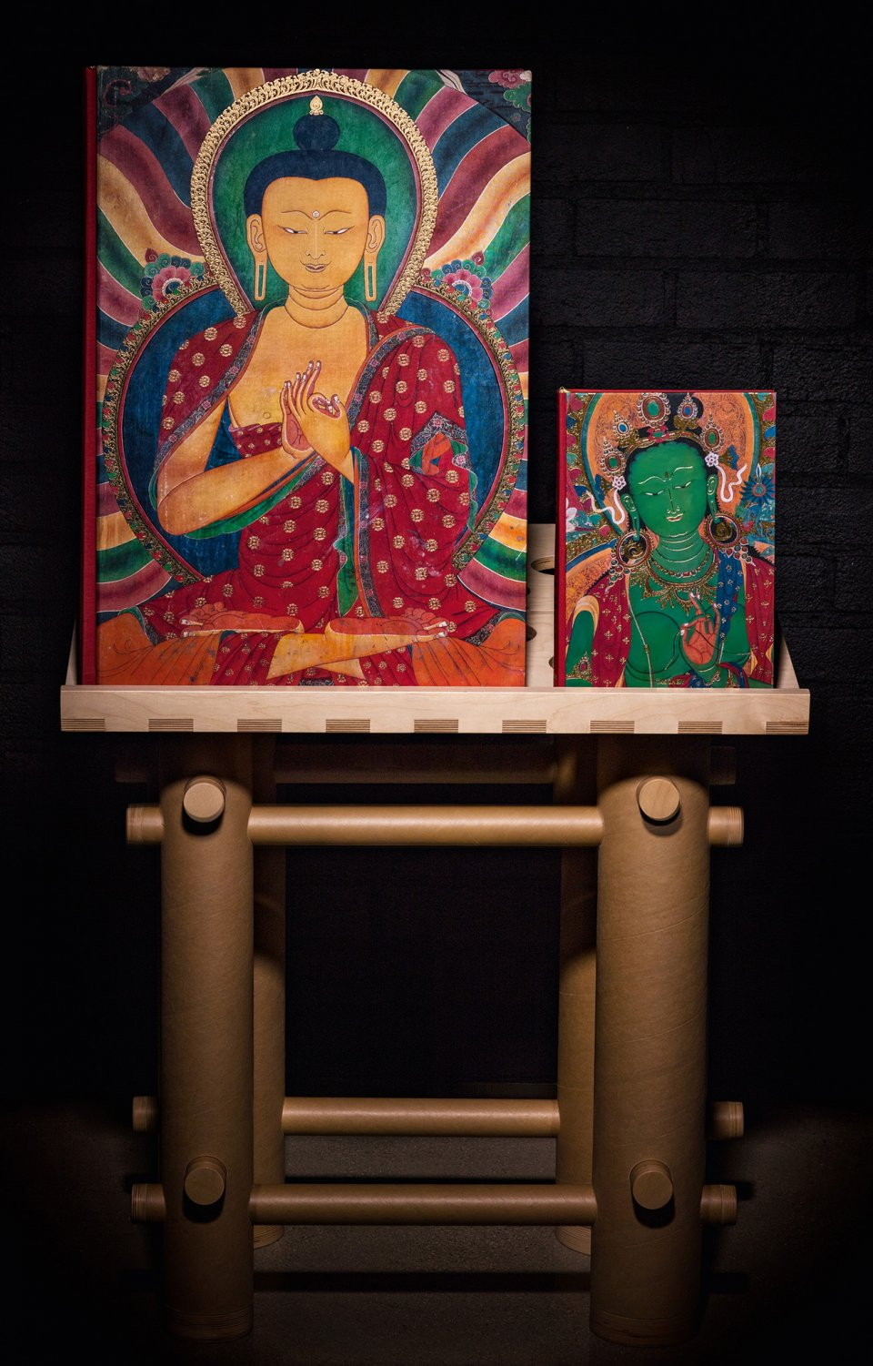 Murals of Tibet, Collector's Edition (No. 81–998), each signed by His Holiness the 14th Dalai Lama and with a Shigeru Ban bookstand