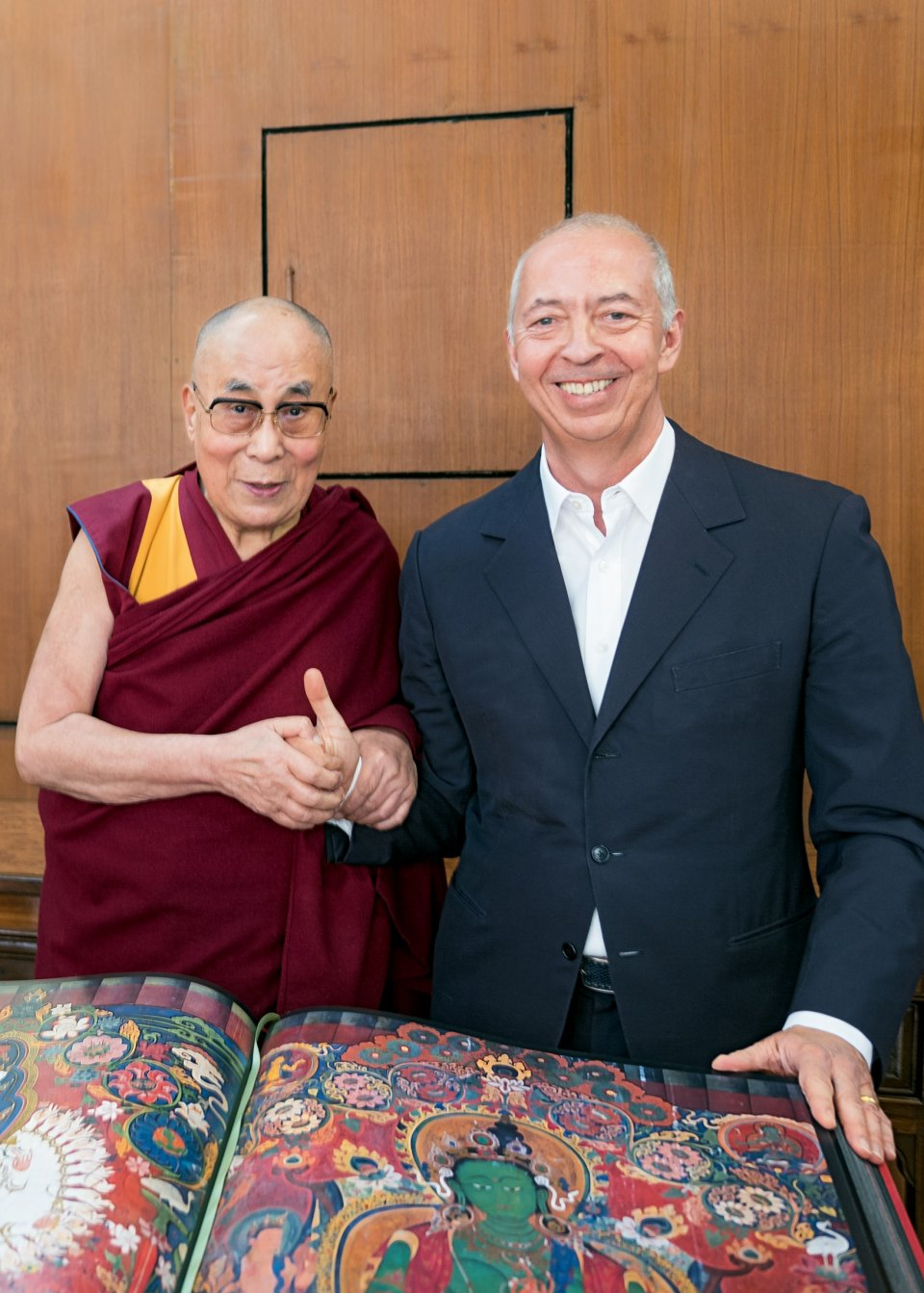 His Holiness the 14th Dalai Lama and Benedikt Taschen