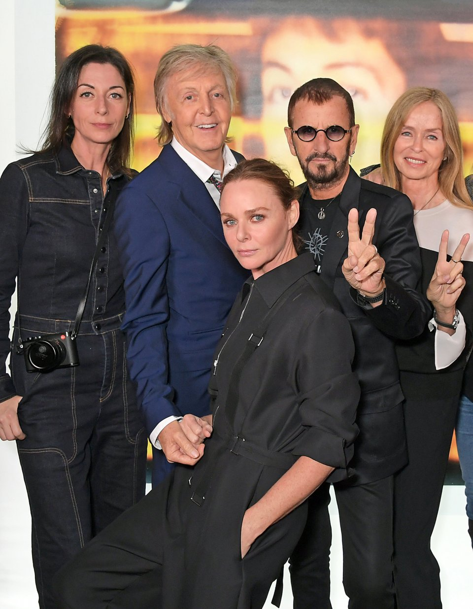 Paul McCartney celebrates, with a little help from his friends and family, at the London launch of Linda McCartney's instant classic The Polaroid Diaries