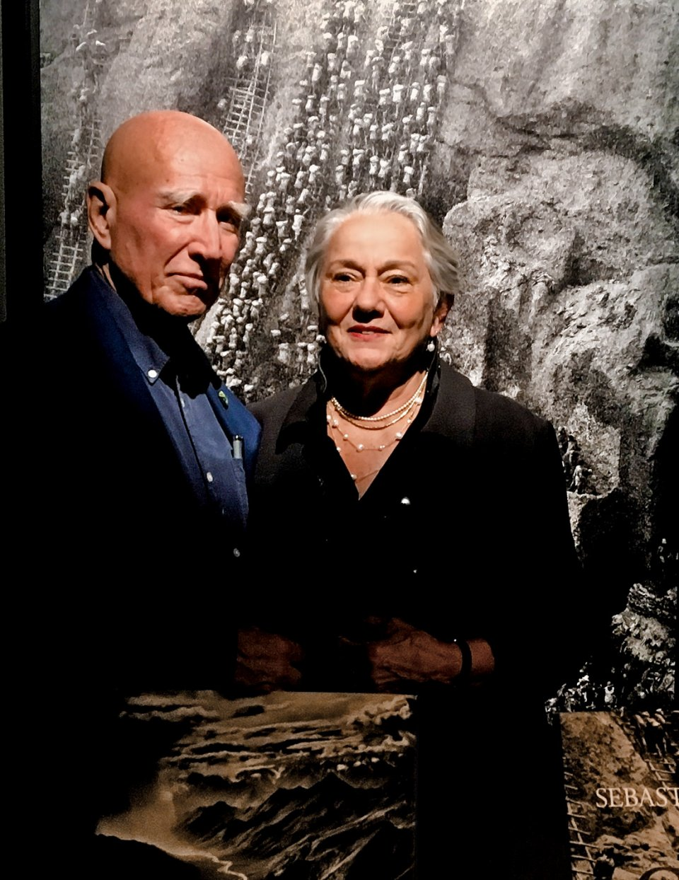 Sebastião Salgado with his wife Lélia